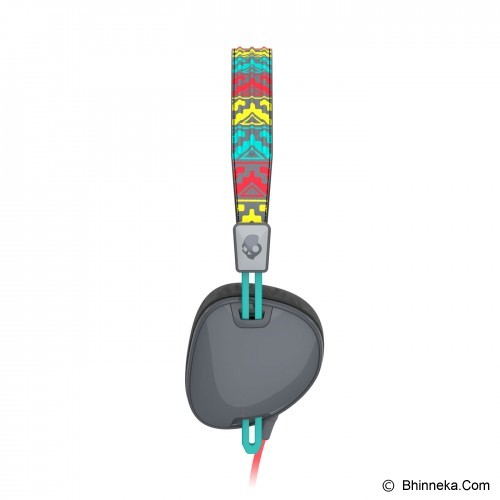 SKULLCANDY Navigator On-Ear w/Mic 3 [S5AVFM-354] - Santa FE Gray/Red/Aqua - Headphone Portable